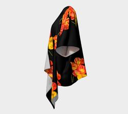 Poppy-Poly-chiffon-draped-kimono