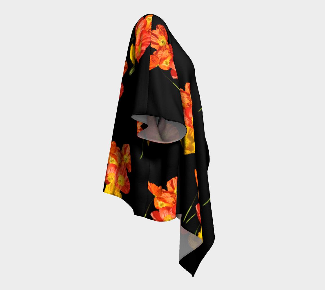Poppy -Poly-chiffon-draped-kimono