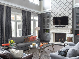 FROM BLACK  TO WHITE Fabrics, Textures, and Patterns Make This Home's Neutral Palette Anything but B