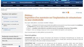 Pétition : Imposition d'un moratoire sur l'implantation de crématoriums en zone résidentielle