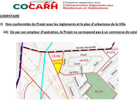 COCARH rend public son « Exposé de position » contre le crématorium à Saint Bruno de Montarville!