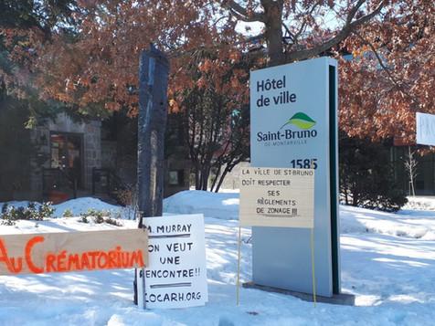 La Ville de Saint Bruno ignore les citoyens et émettra le permis de construction du Crématorium