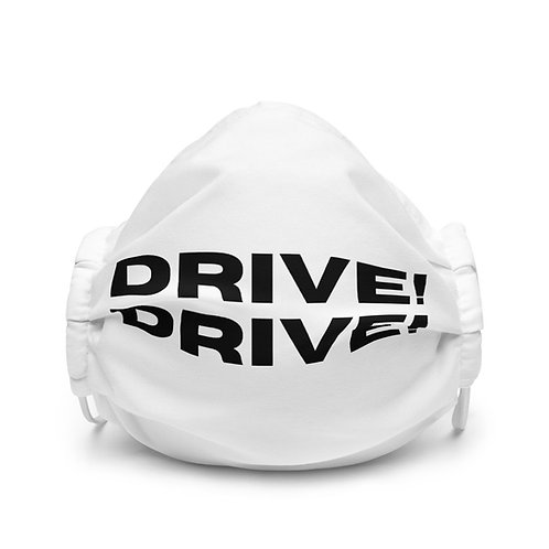 Drive!Drive! White Face Mask