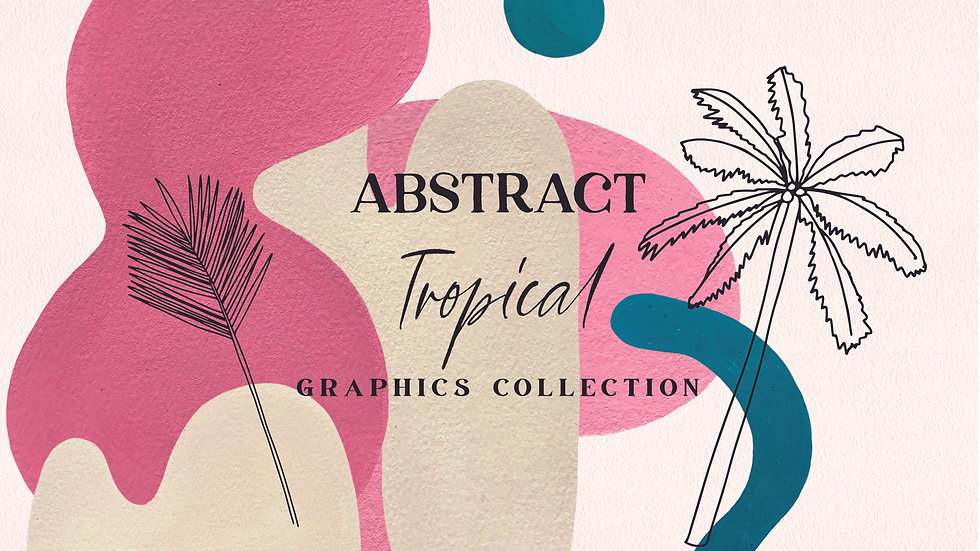 Abstract Tropical Illustrations Bundle