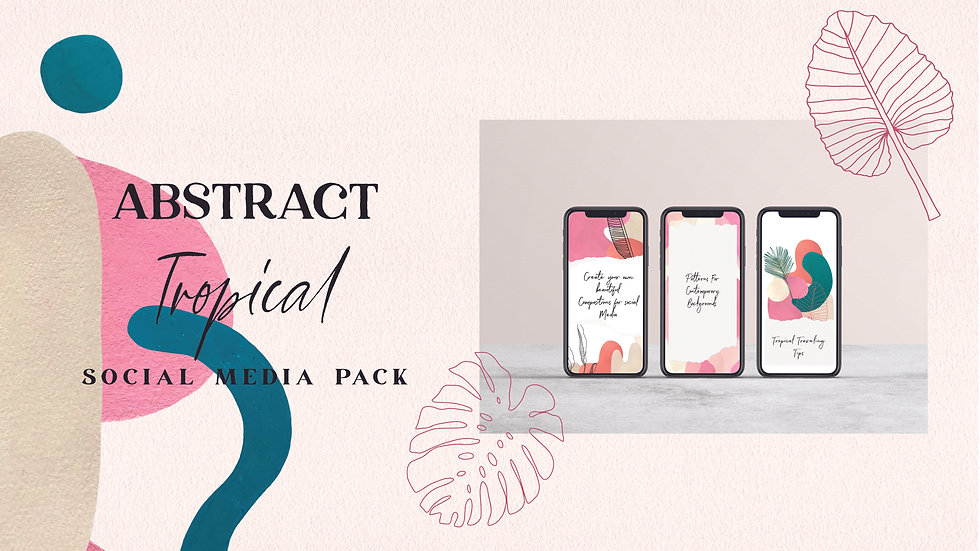 Abstract Tropical Social Media Branding Pack