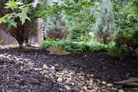 Stone & plant material installation