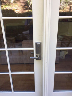 Patio Door Lock Installation