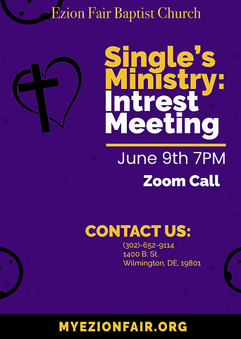 Singles Ministry Flyer -Interest Meeting