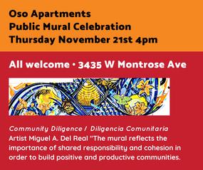 Oso Apartments Public Mural Celebration.