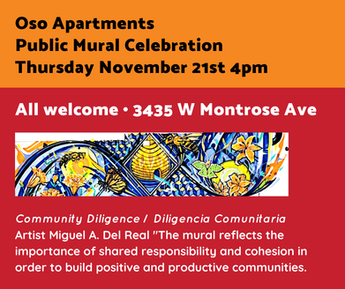 Oso Apartments Public Mural Celebration.