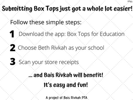 Box Tops - New and Quick way to help our school!