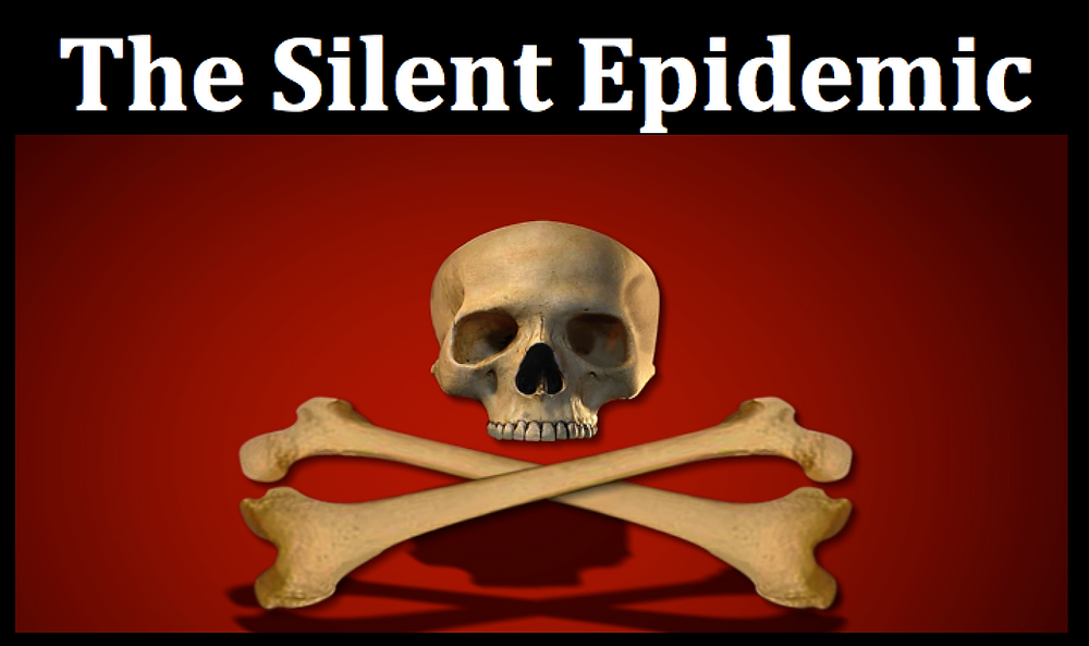 Silent Epidemic skull and crossbones