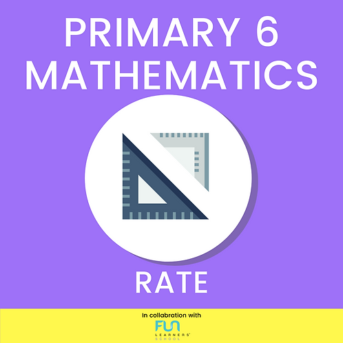 P6 MATH - Rate Revision