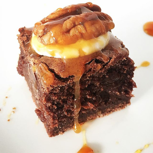 Sweet Madeleine's makes killer brownie bites! Meet the caramel turtle brownie bite.jpg