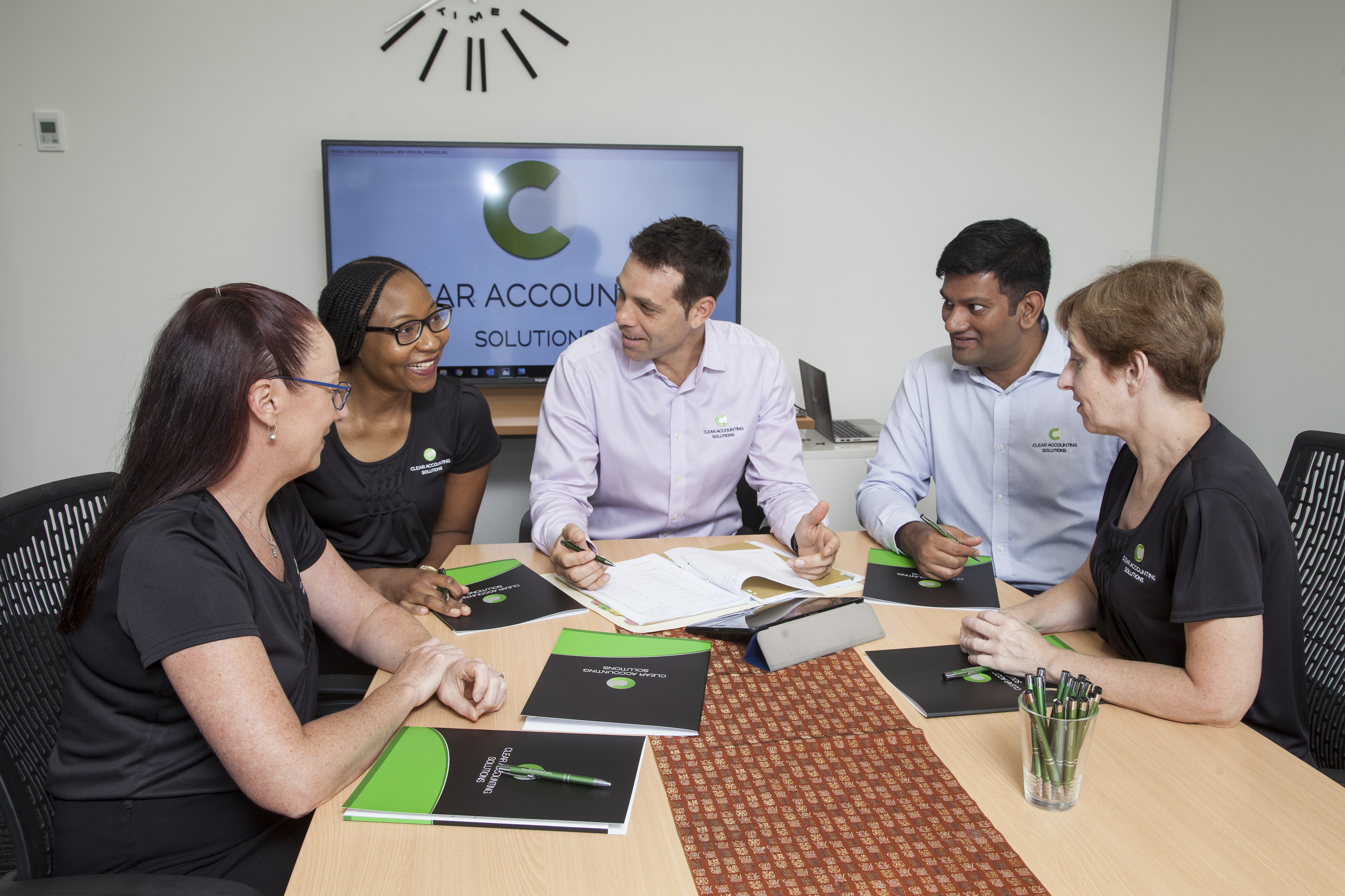 Accountants - discussing