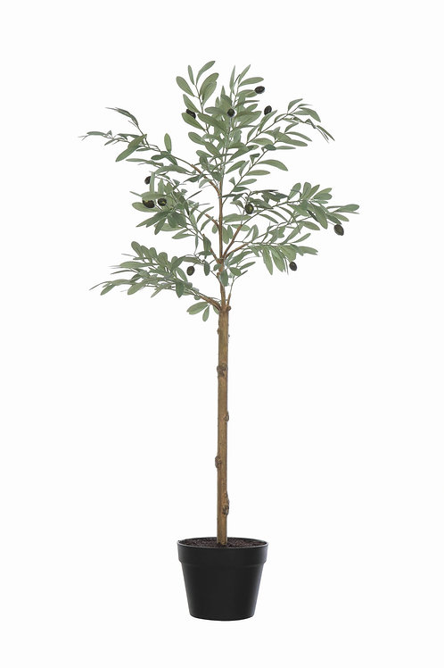 Potted Faux Olive Artificial Flower