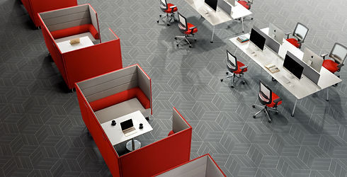 Open Plan Office Space by Trade West