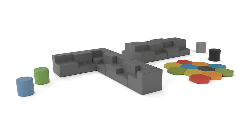 Grand Stand Soft Seating and Ottomans by Trade West