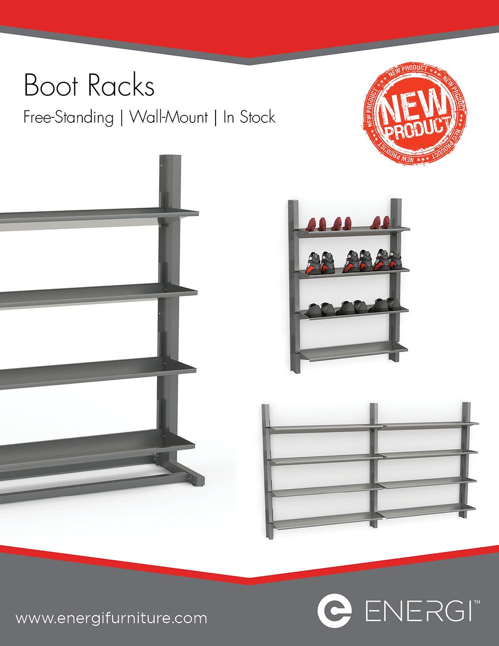 Freestanding Boot Racks & Wall-Mount Boot Racks