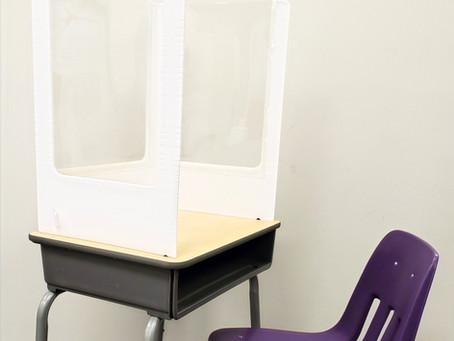 Desk Shields/Sneeze Guards for Student Desks & Tables