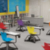 Classroom with Large Mobile Clear Divide