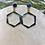 Thumbnail: Blue and Gold Hexagon Earrings