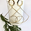 Thumbnail: Gold and Silver Plated Abstract Wire Earrings