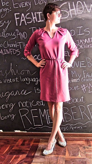 Pleated T-shirt Dress (Size Small)