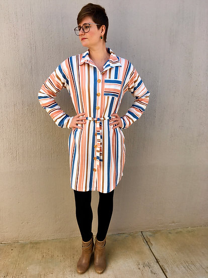 Karin - Shirt dress with raglan long sleeves