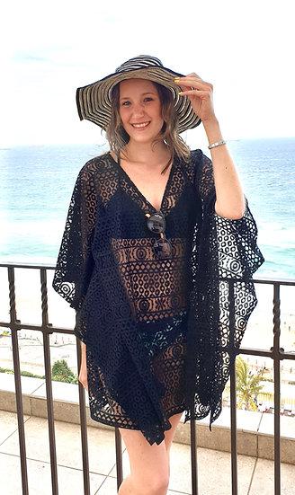 Jessie - Black lace swim suit Cover-up