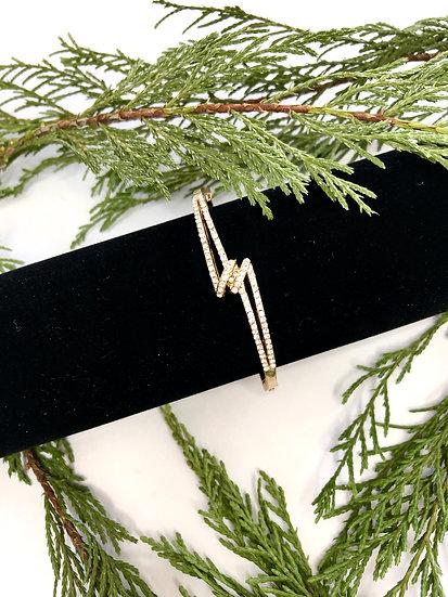 Gold and Diamanté Bracelet