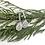 Thumbnail: Silver Crystal Teardrop Earring