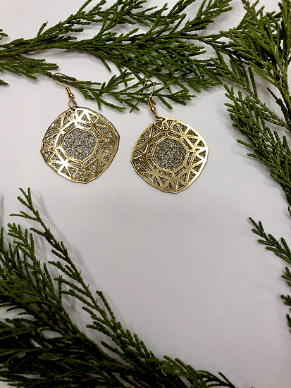Silver and Gold Hanging Earrings