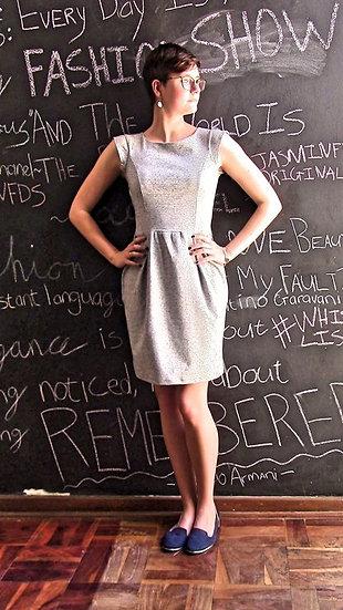 Grey Pinafore Dress