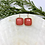 Thumbnail: Gold and Coral Earrings