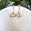 Thumbnail: Gold Flower Drop Earring