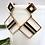 Thumbnail: Gold and Black Square Earrings