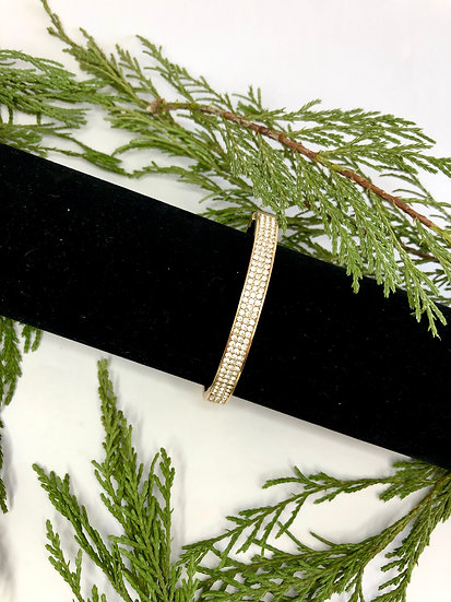 Gold Plated and Diamanté Bangle