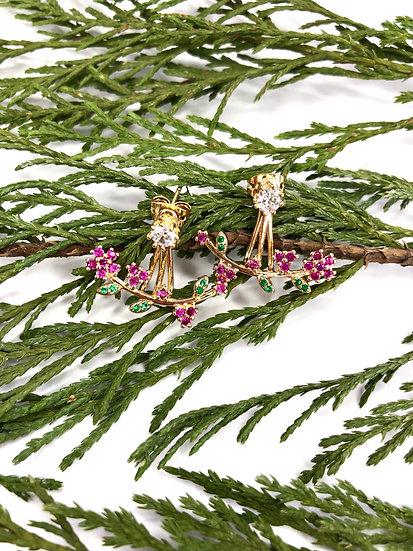Floral Drop Earring