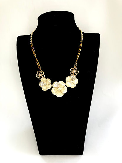 Gold Floral Statement Necklace