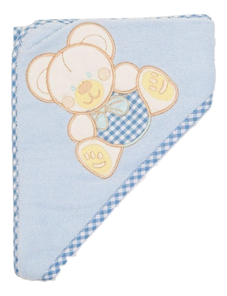 Snugzeez hooded bath towel blue