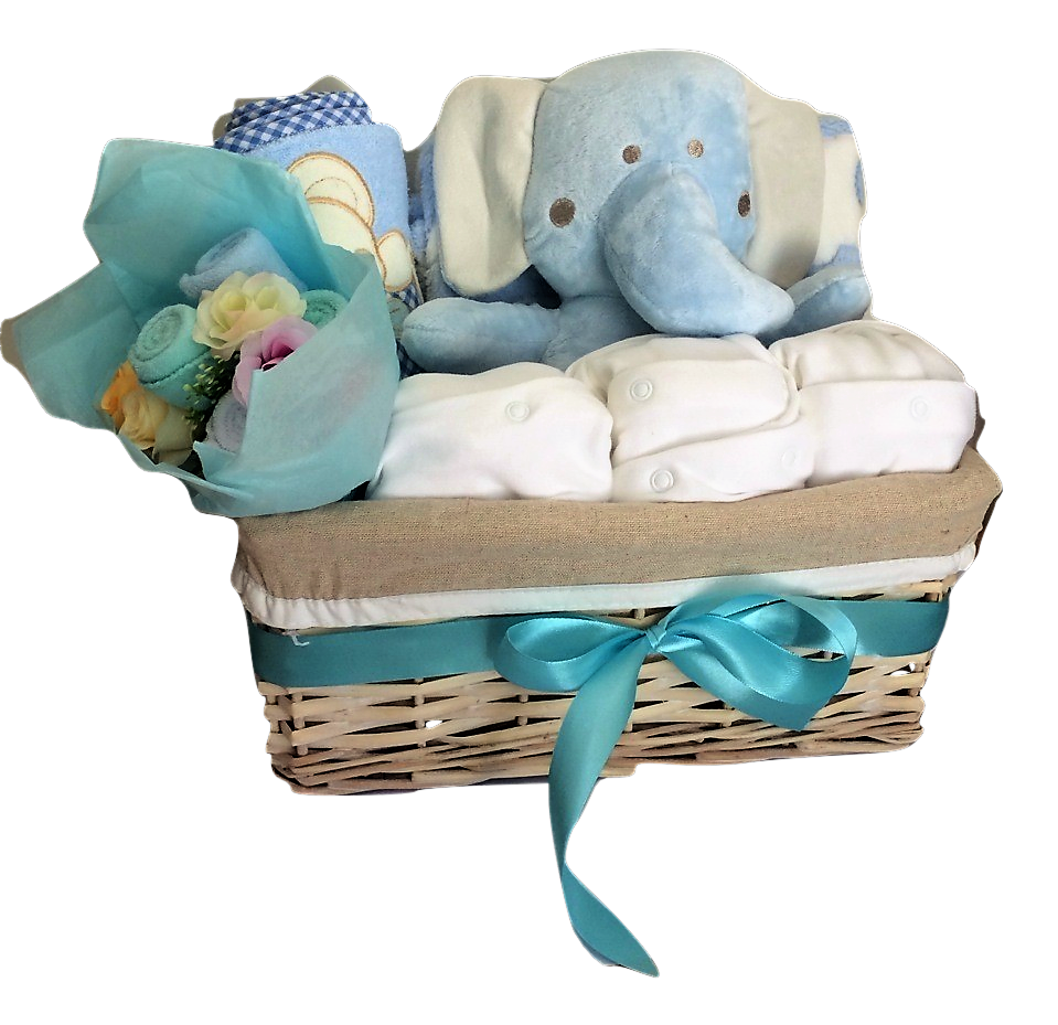 Elephant hamper basket