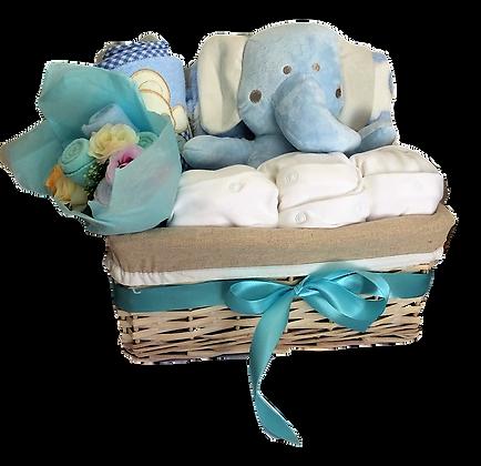 Elephant in basket