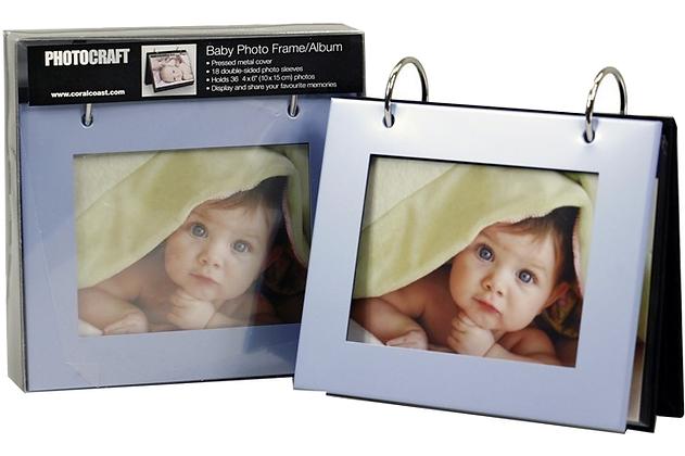 Baby photo frame blue