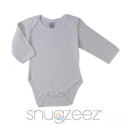 Long sleeves baby bodysuit - White