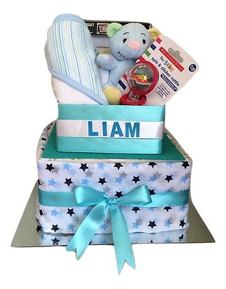 Liam - 2 Tier Cake with Toys