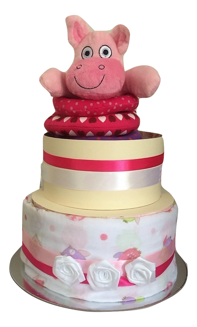 Girls 2 tier hippo stacker
