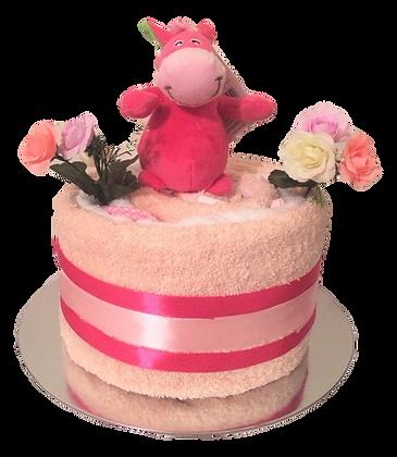 Jennifer - 1 tier cake with soft toy