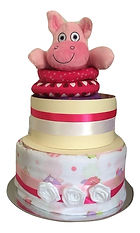 Nappy cake 2 tier with Hippo toy