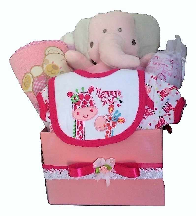 Girls posy box pink elephant